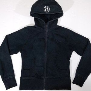 Lululemon Black Scuba Hoodie Zip-up Sweatshirt